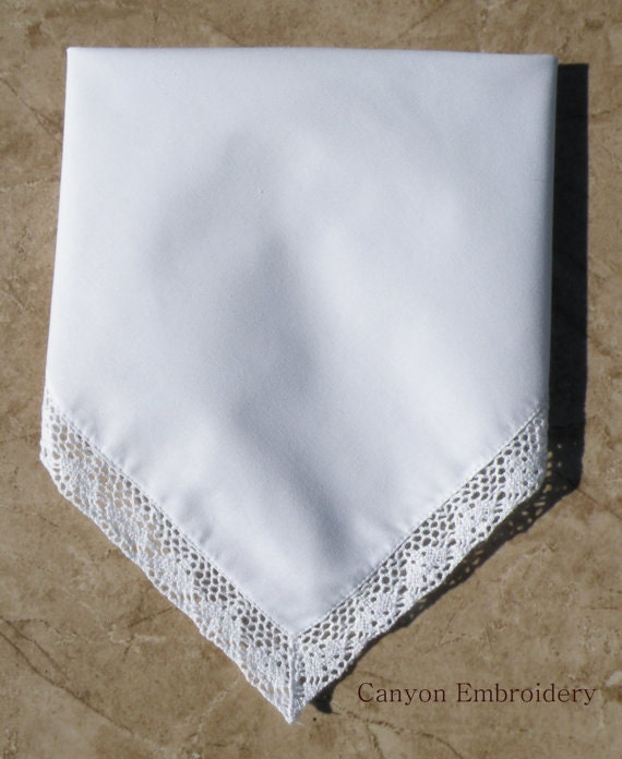 Wedding Handkerchiefs For The Family: Embroidered Wedding Handkerchief Gift Family Personalized