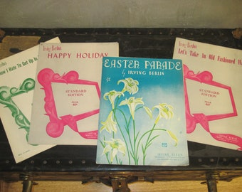 Irving Berlin Sheet Music, Lot of 4, Easter Parade & More