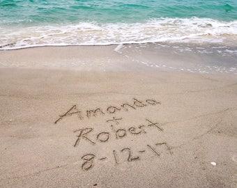 Beach Personalized Print, Beach Wall Art, Beach Lovers Gift, Beach Decor, Couples Gift, Gift for Her, Boyfriend Gift, Gift Under 20