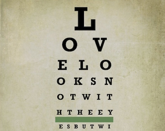 Personalized Eye Chart,  Personalized Gift, Gift for Husband,  Custom Valentine, Unique Gift for Couple, Personalized Decor