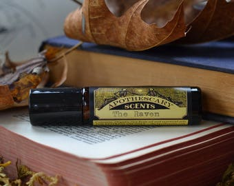 THE RAVEN Perfume Oil - Teakwood, Vanilla, Vetiver, Black Pepper, Clove, and More - Available in 3 Sizes