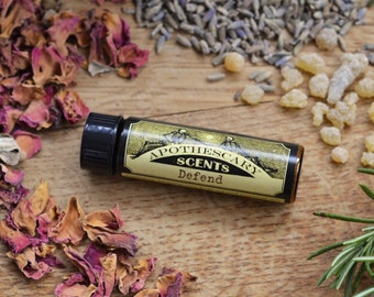 DEFEND Perfume Oil - Classic Bohemian Blend of Crisp Lemongrass and Relaxing Lavender - Available in Three Sizes