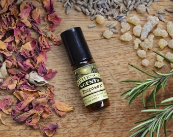 EMPOWER Perfume Oil - Classic Bohemian Blend of Dark Patchouli and Sandalwood - Available in Three Sizes