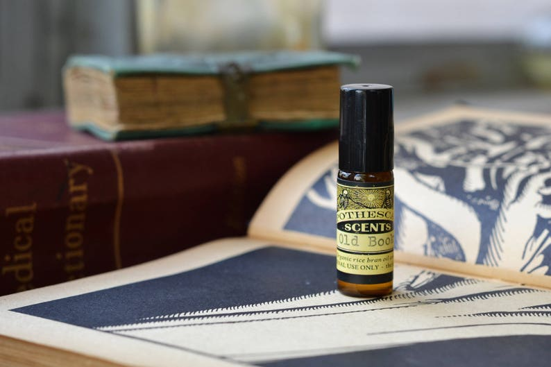 OLD BOOKS Natural Perfume Oil  Notes of Aromatic Woods Soft image 0