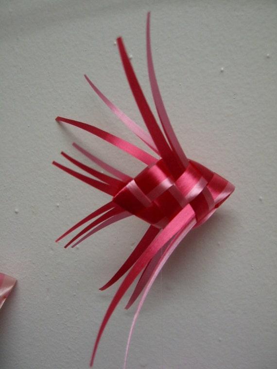 How to make ribbon fish (w/ second row of weaving). | Ribbon ... | 760x570