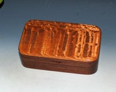 Handmade Wooden Box - Small Wood Treasure Box of Lacewood on Walnut by BurlWoodBox - Great Guy Choice