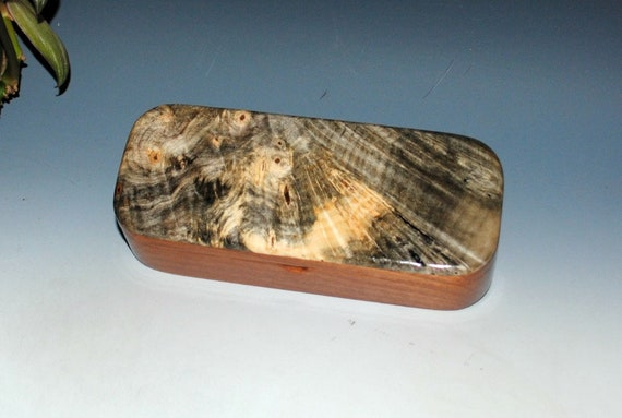 Wood Box -Wooden Pen Box of Buckeye Burl on Mahogany- Wood Keepsake Box, Jewelry Box, Treasure Box, Wooden Jewelry Box, Wood Gift Box, Boxes