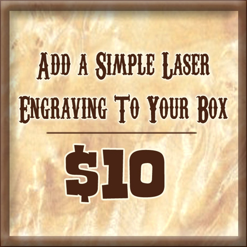 Laser Engraving Add On To Your Box Purchase  Add Simple Text image 0