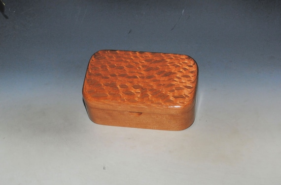 Wooden Trinket Box Of Lacewood on Cherry - Handmade in the USA by BurlWoodBox -  Small Box For Jewelry or Other Treasures