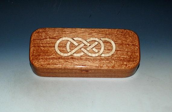 Wooden Box of Mahogany With Double Infinity Inlay by BurlWoodBox - Jewelry Box, Pen  Box, Keepsake Box