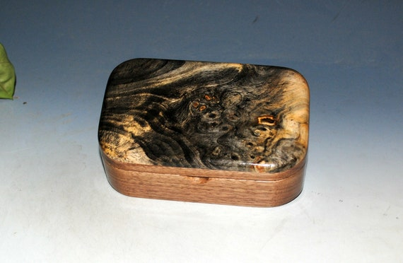 Wooden Box of Buckeye Burl on Walnut - Handmade Trinket Box by BurlWoodBox - Boxes Are Great Gifts !