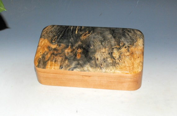 Wooden Box of Buckeye Burl on Cherry by BurlWoodBox - Handmade Wood Box With Lid Perfect For Your Special Treasures, Trinkets or Keepsakes !