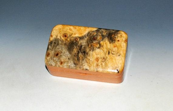 Small Wooden Box of Cherry & Buckeye Burl Handmade in the USA by BurlWoodBox - Great Little Gift !