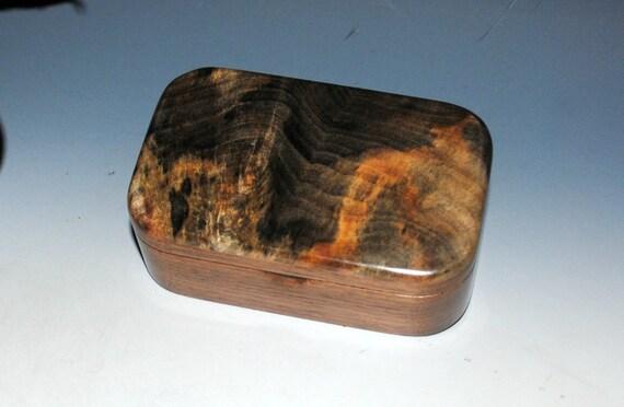 Buckeye Burl on Walnut Handmade Wooden Trinket Box - Handmade Jewelry Box by BurlWoodBox - Small Box, Keepsake Box, Treasure Box, Wood Boxes