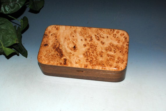 Handmade Wood Box of Maple Burl on Walnut - USA Made by BurlWoodBox