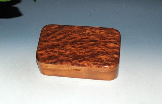 Wood Treasure Box of Mahogany with Redwood Burl - Wooden Box With Lid - Handmade Gift !