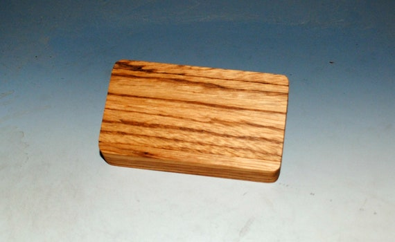 Slide Top Small Wood Box of Zebrawood - USA Made by BurlWoodBox With a Food Safe Finish