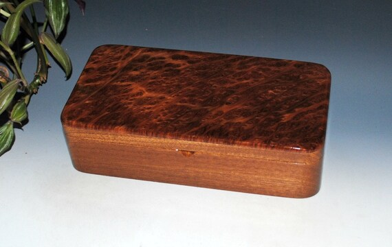 Handmade Wooden Box With Tray - Wood Box - Redwood Burl on Mahogany by BurlWoodBox - Jewelry Box, Stash Box - Handmade Wood Box, Wooden Box