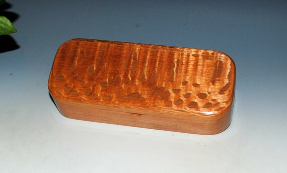 Wooden Pen or Gift Presentation Box of Lacewood on Cherry - Handmade by BurlWoodBox in the USA