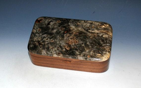 Wood Treasure Box of Buckeye Burl on Walnut - Handmade in the USA by BurlWoodBox
