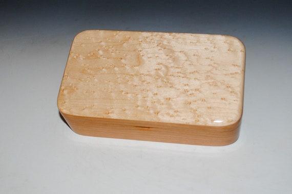 Wooden Box of Birdseye Maple on Cherry - Handmade Wood Box by BurlWoodBox - Small Stash, Treasure or Jewelry Box