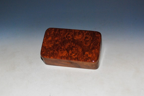 Redwood Burl on Walnut Handmade Tiny Wood Treasure Box - Gift Box, Wood Jewelry Box, Wood Keepsake Box by BurlWoodBox - Very Small Wood Box
