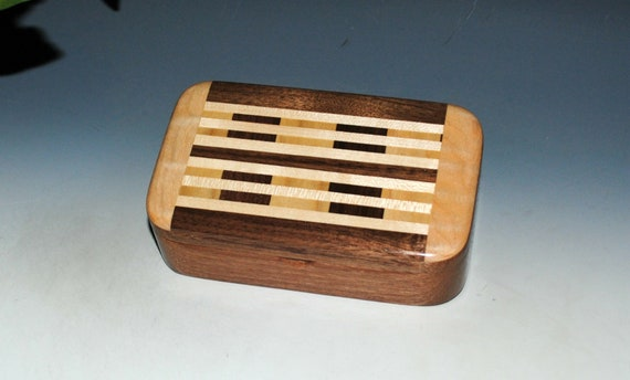 Wood Treasure Box of Mahogany with Upcycled Cutting Board by BurlWoodBox - Great Handmade Gift !