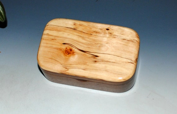 Spalted Maple on Walnut Wooden Trinket Box -Wood Box-Treasure Box- Small Wood Box-USA Made-Small Wooden Box- Handmade Wood Box, Wooden Boxes