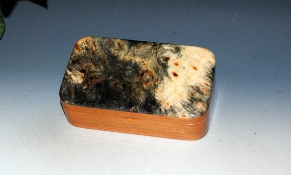 Wooden Treasure Box of Cherry & Buckeye Burl by BurlWoodBox