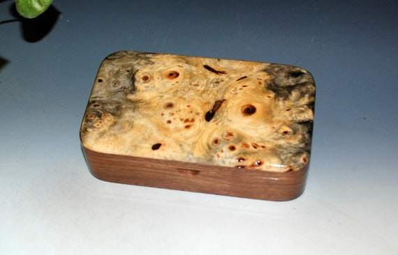 Handmade Wooden Box of Buckeye Burl on Walnut - Small Stash Box or Jewelry Box by BurlWoodBox - Boxes Make Great Gifts !