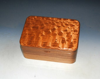 Wooden Box with Tray of Walnut & Lacewood - Handmade in the USA by BurlWoodBox
