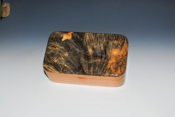 Wooden Treasure Box of Cherry with Buckeye Burl - Handcrafted in The USA by BurlWoodBox