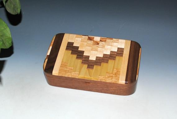 Handmade Wood  Box - Upcycled Cutting Board & Mahogany