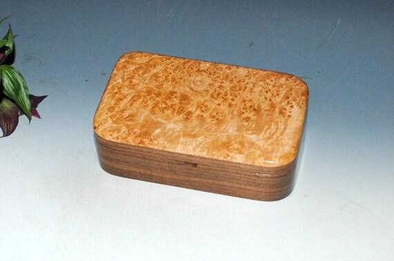 Wood Box-Treasure Box- Walnut and Maple Burl - Handmade Wood Box- Keepsake Box, Gift Box, Wood Jewelry Box, Wooden Boxes, Wooden Jewelry Box