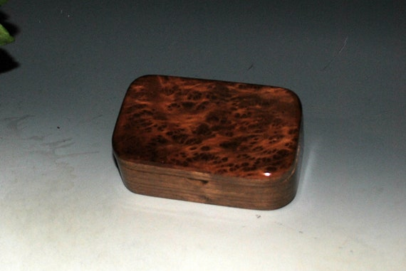Redwood Burl on Walnut Handmade Wooden Trinket Box by BurlWoodBox - Natural Hardwood Boxes Made in the USA