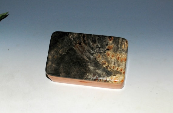 Very Small Wooden Box of Cherry & Buckeye Burl Handmade in the USA by BurlWoodBox - Unique Small Gift !