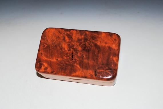 Redwood Burl on Mahogany Handmade Tiny Wood Treasure Box -Gift Box, Wood Jewelry Box, Wood Keepsake Box by BurlWoodBox - Very Small Wood Box