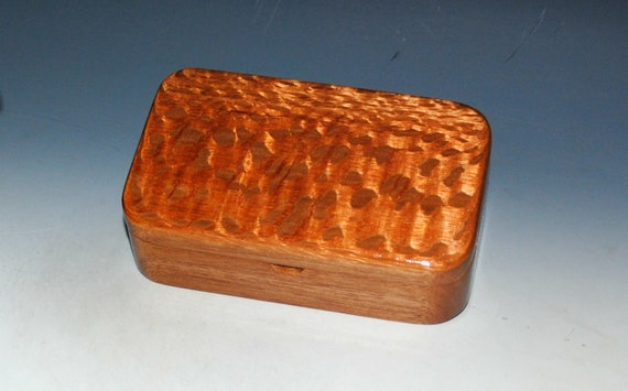Wood Treasure Box of Lacewood on Mahogany - Great as a Gift, For Keepsakes or Jewelry