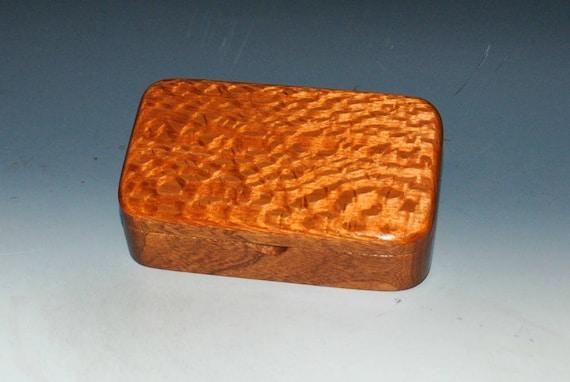 Handmade Wood Treasure Box - Lacewood on Mahogany - Gift Box, Desk Box, Stash Box- Jewelry Box, Small Wooden Box, Storage Box, Keepsake Box