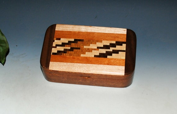 Wood Treasure Box of Mahogany with Cutting Board Upcycled Wood by BurlWoodBox - Great Gift For Anyone For Any Occasion !
