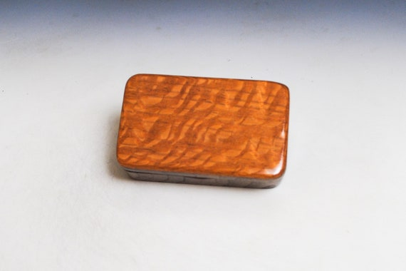 Very Small Wooden Box With Lid of Walnut & Lacewood - Handmade in America by BurlWoodBox