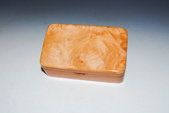 Small Wooden Box of Maple Burl on Cherry - Gift Box, Jewelry Box or Keepsake Box - Handmade in the USA