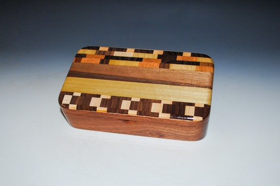 Handmade Wooden Box - Upcycled Cutting Board & Mahogany - A Special Gift For Birthday, Graduation or Holiday !