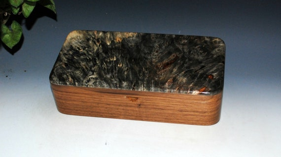 Handmade Wood Box With a Tray That Slides of Buckeye Burl on Walnut - Great Guy Gift!