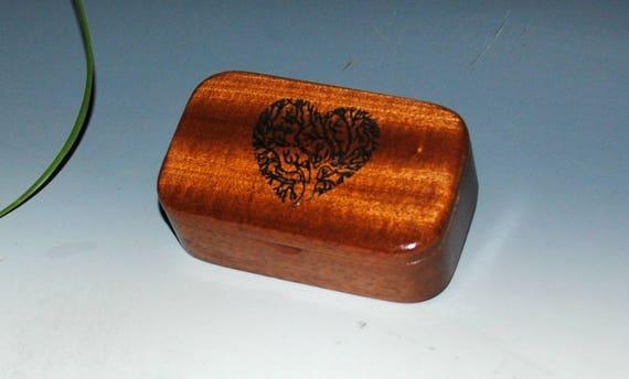 Tree of Life as a Heart Wood Box of Mahogany Handmade by BurlWoodBox - Sacred Tree Box