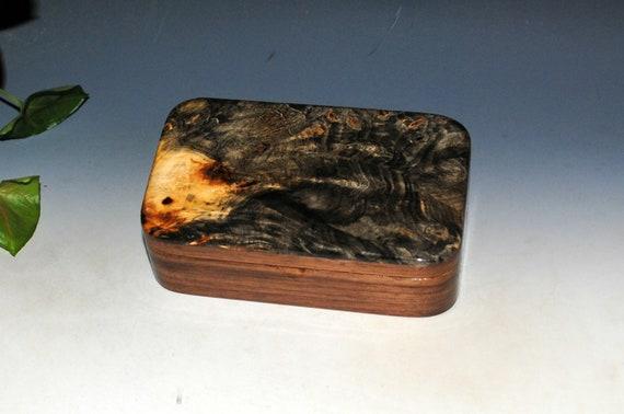 Wood Treasure Box of Buckeye Burl on Walnut - Handmade in the USA by BurlWoodBox - Perfect Gift For Men