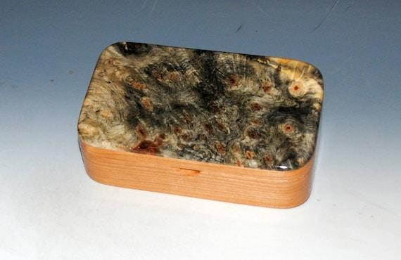 Handmade Wood Box - Wood Jewelry Box - Cherry & Buckeye Burl - Trinket Box, Gift Presentation Box, Wooden Box, Keepsake Box, Treasure Box