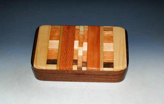 Handmade Wooden Box - Upcycled Cutting Board & Mahogany