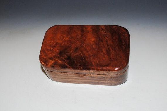 Redwood Burl on Walnut Handmade Wooden Trinket Box by BurlWoodBox