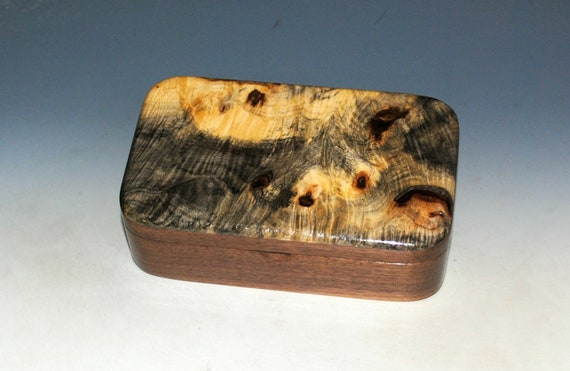 Wood Treasure Box of Buckeye Burl on Walnut - Handmade Wooden Box Made in the USA by BurlWoodBox